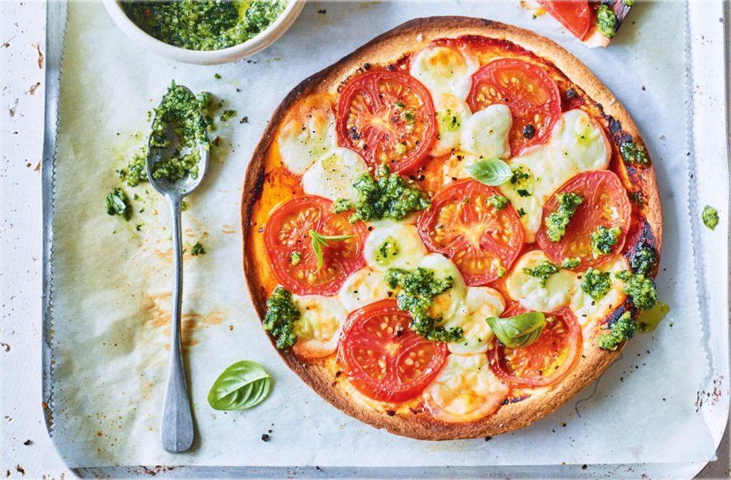 10 estilos de pizza: pizza caprese