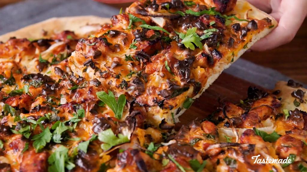 10 estilos de pizza: pizza de pollo y barbacoa