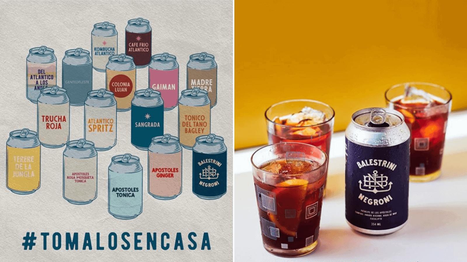 El mejor bar de Argentina llega a tu casa Florería Atlántico presenta sus mejores tragos en versión latas 1