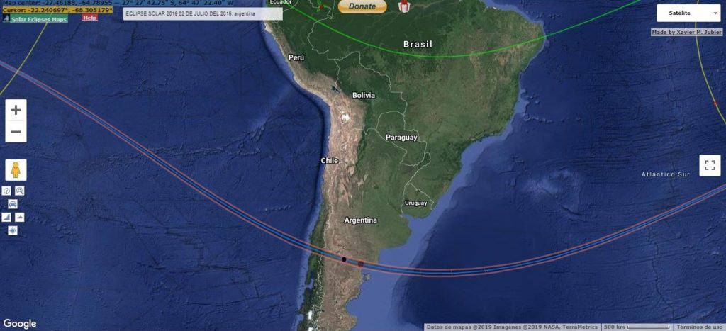 La Patagonia argentina será uno de los mejores lugares para ver el eclipse total de sol del 14 de diciembre