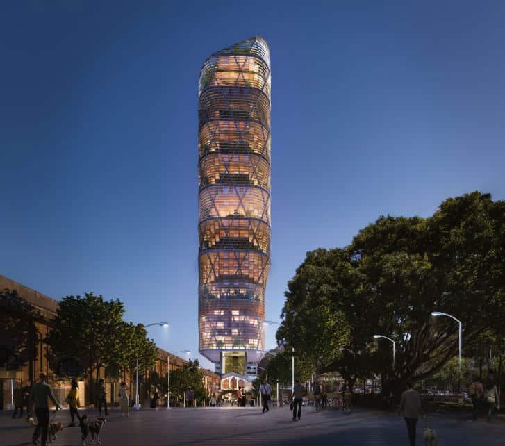 torre de madera híbrida