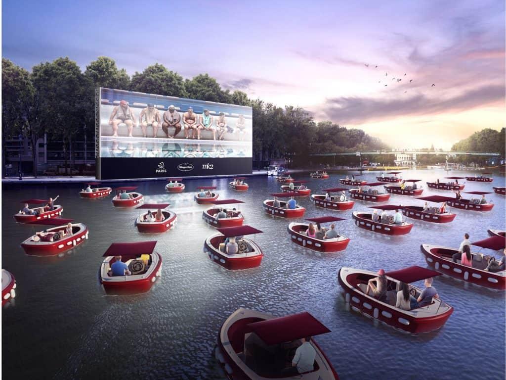 París abrirá un cine flotante  en el que la gente se sentará en botes socialmente distantes en el río Sena