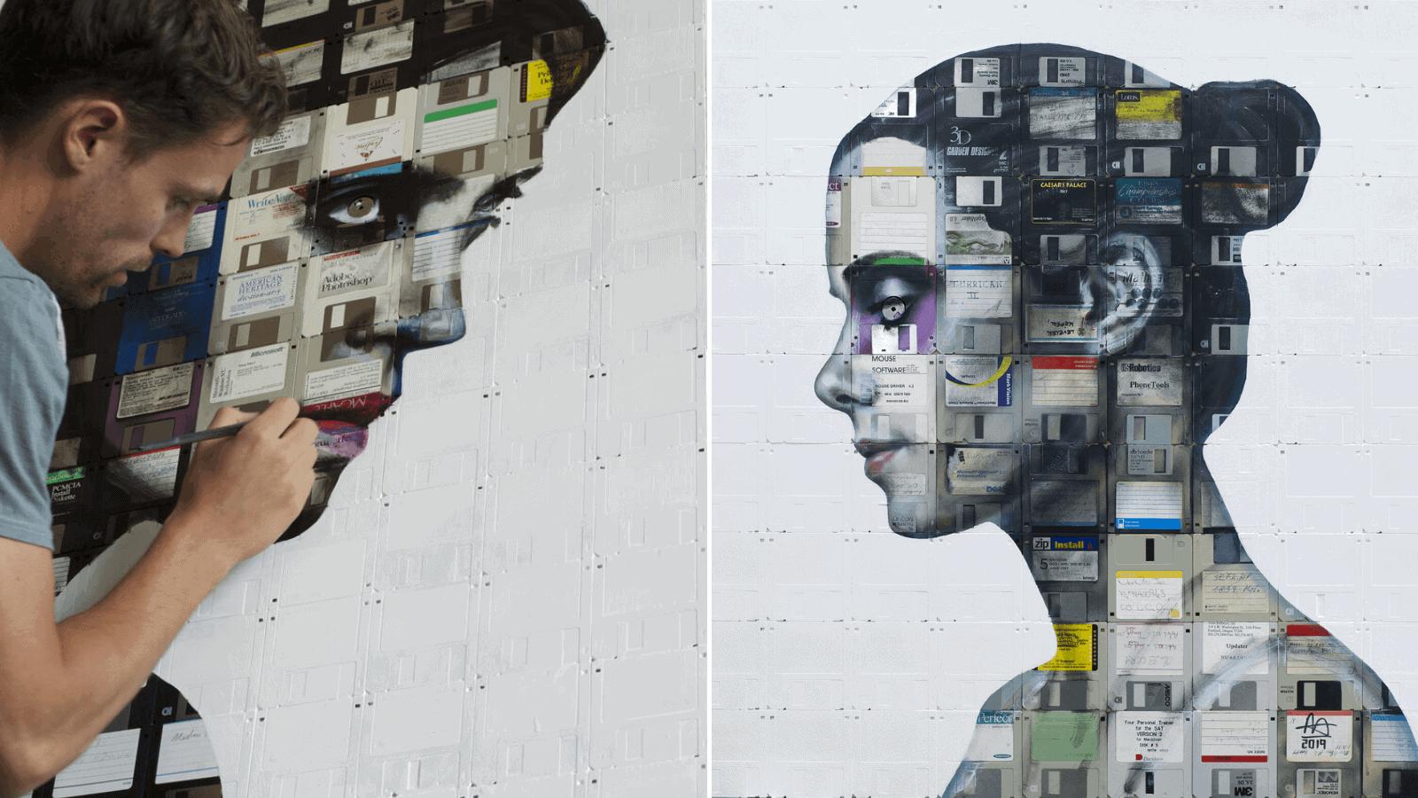 Conoce a Nick Gentry, el artista británico que utiliza y recicla objetos en desuso para crear sus impresionantes obras 1