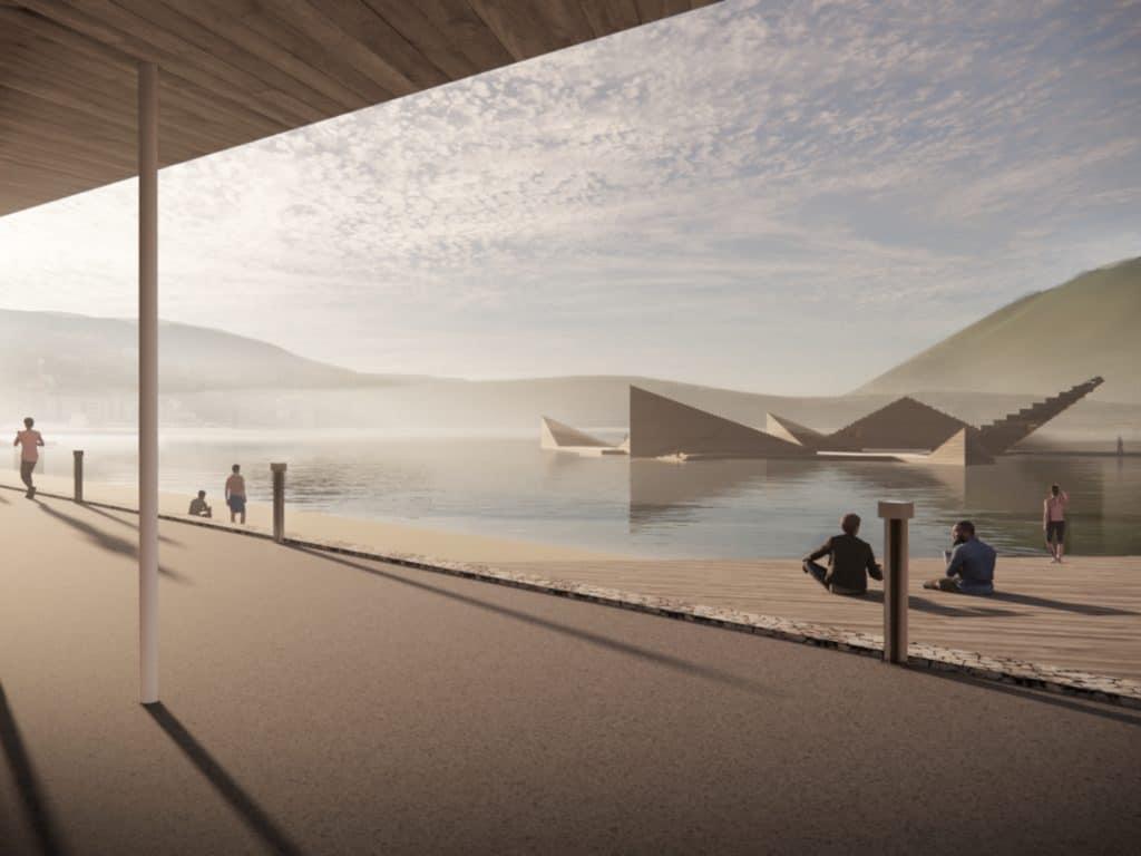 Esta impresionante piscina flotante en forma de estrella de mar llega a Noruega