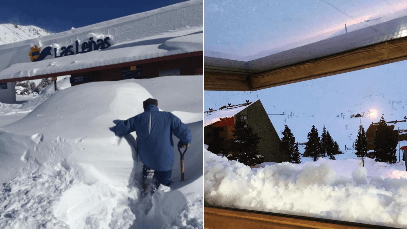 Una histórica ola polar dejó al centro de esquí Las Leñas completamente cubierto de nieve 1