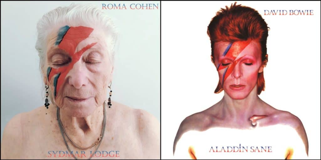 Las abuelitas de este hogar de ancianos recrearon las portadas de algunos álbumes clásicos