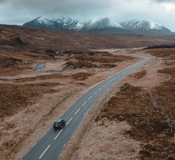 Escocia en auto