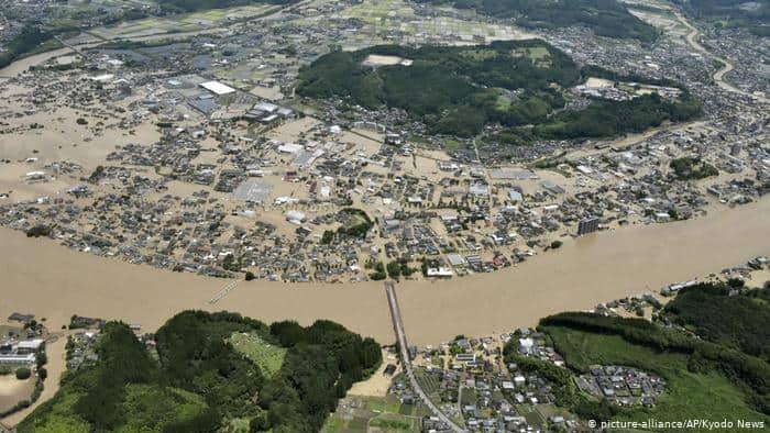 Alerta por récord de lluvias en Japón