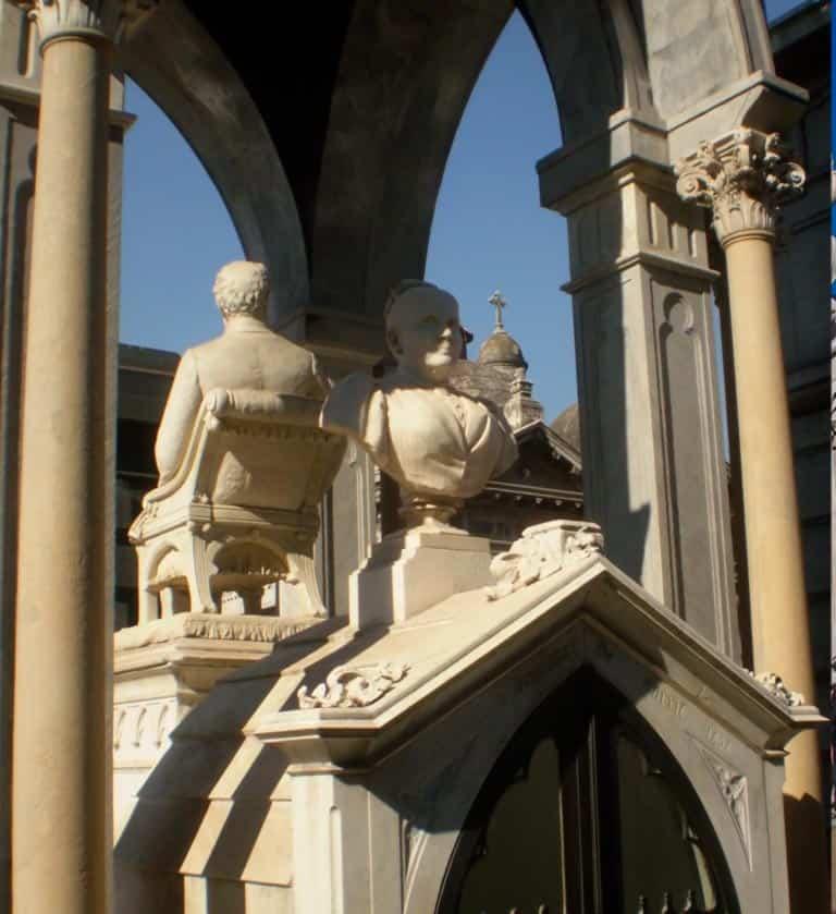 Cementerio de la Recoleta: Tiburcia y su marido