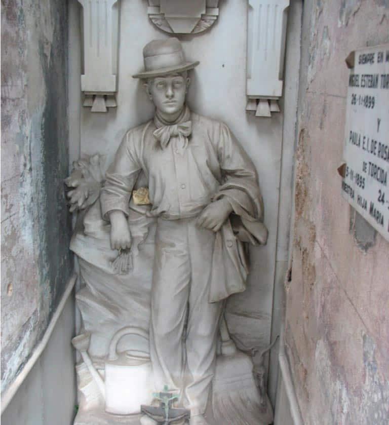 Cementerio de la Recoleta: David Alleno