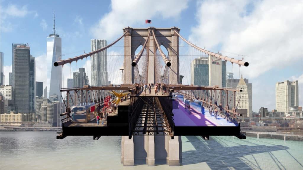 nuevo diseño del puente de Brooklyn
