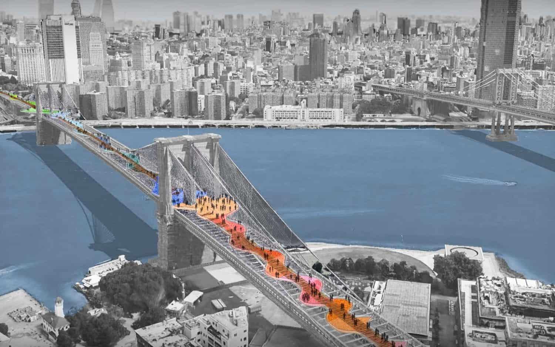 Lanzan un concurso para que usuarios voten el nuevo diseño del puente de Brooklyn en Nueva York 1