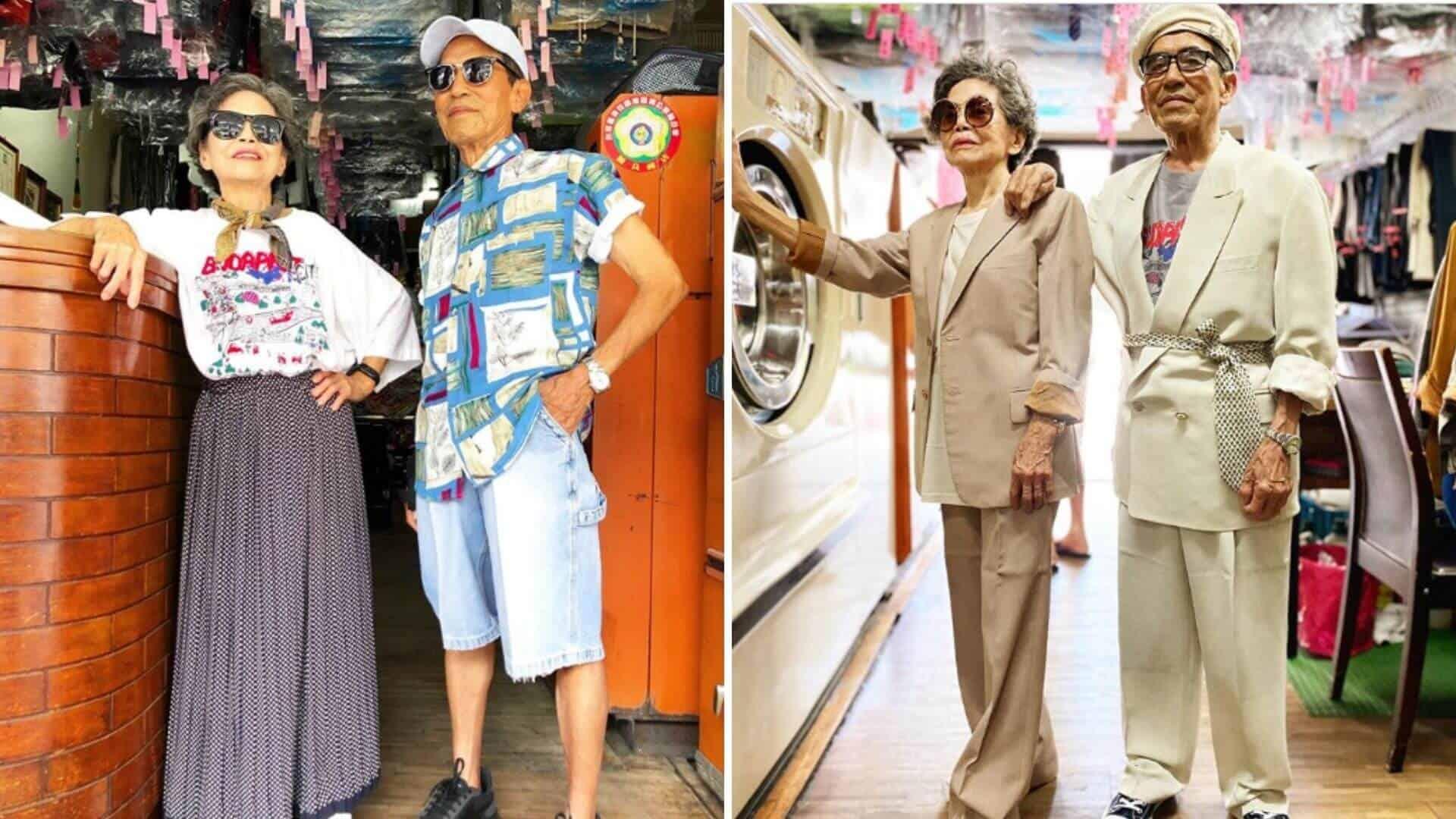 Una pareja de ancianos crea atuendos elegantes con ropa olvidada en su lavandería de Taiwán 1