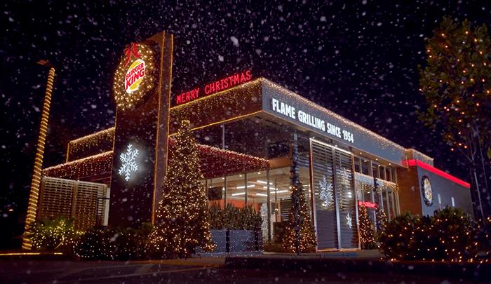 Burger King se viste de Navidad