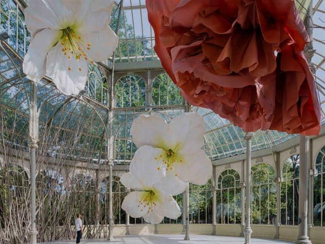 El Palacio de Cristal del Parque del Retiro en Madrid se llena de flores ante un nuevo proyecto del Museo Reina Sofía 1