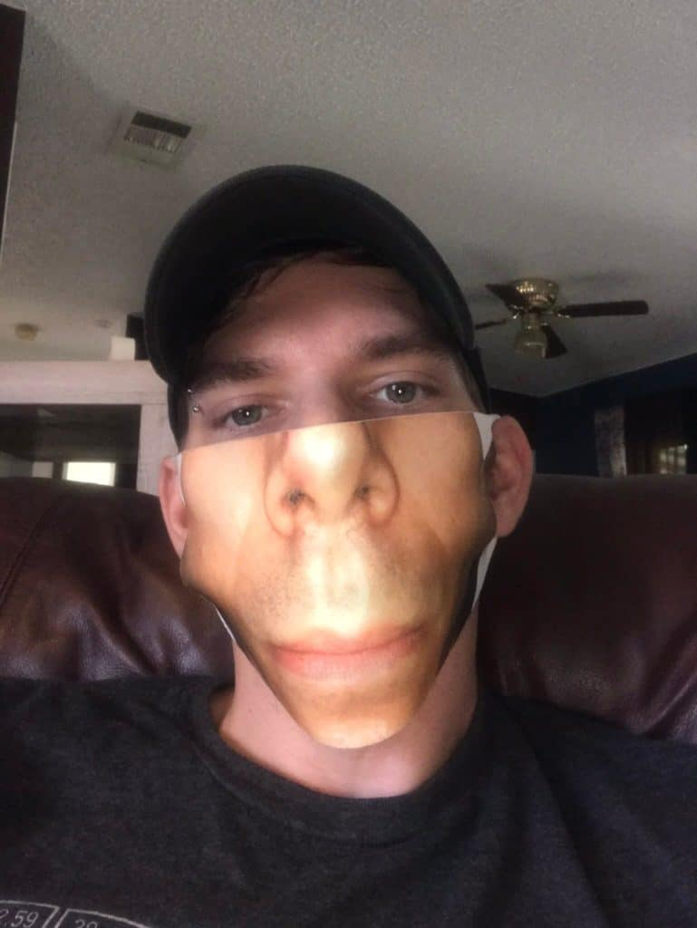 cubrebocas personalizados con su cara impresa