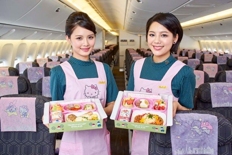vuelo temático de Hello Kitty