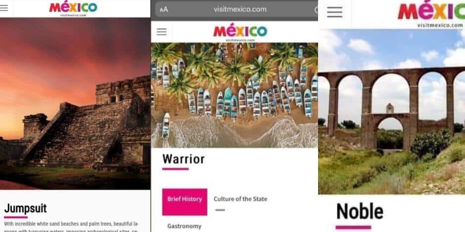 El desafortunado incidente en el sitio web de Visit México con nombres de ciudades mal traducidos es furor en redes sociales 1