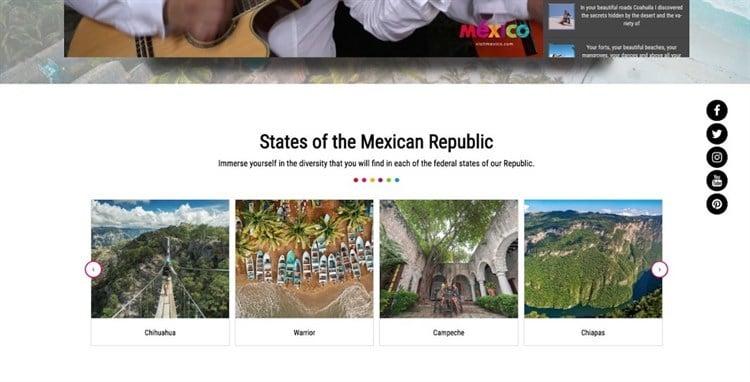 Visit México con nombres de ciudades mal traducidos