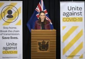 Casos positivos de COVID-19 en Nueva Zelanda