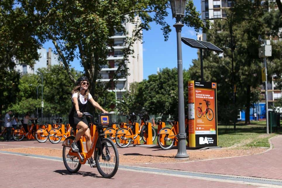 uso de bicicleta en plena pandemia