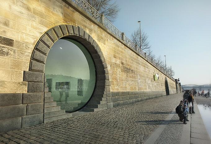 Antiguas bóvedas de hielo The Rebirth of the Pragues Riverfront by petrjandabrainwork 2