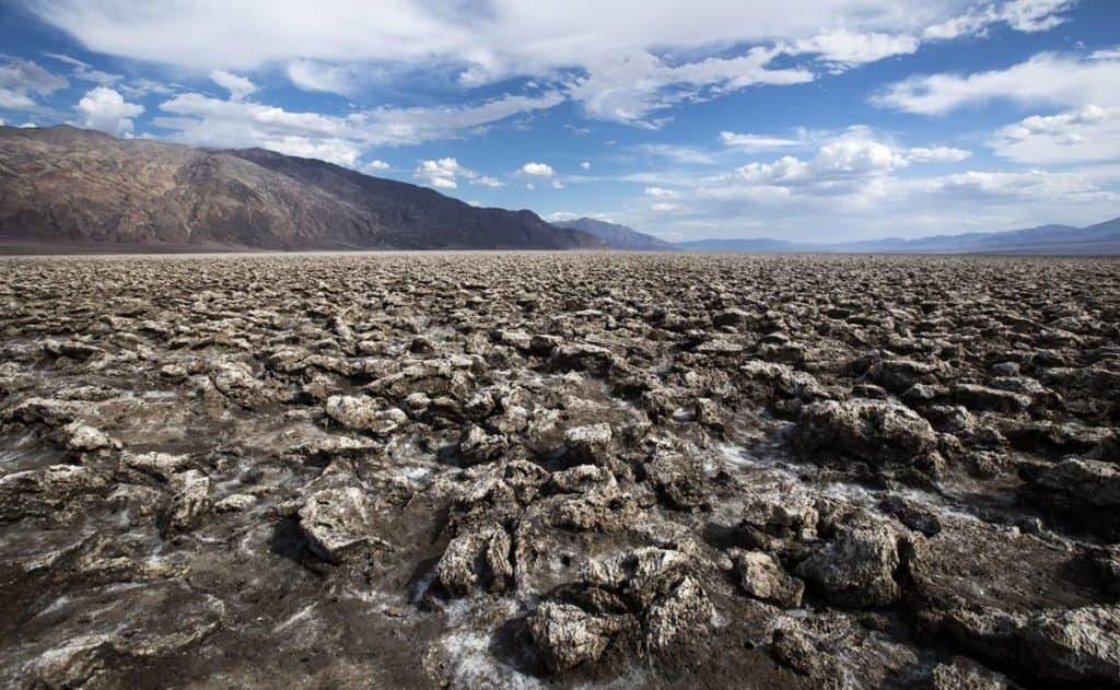 Valle de la muerte, altas temperaturas