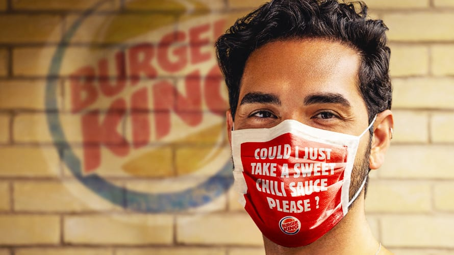 Burger King imprimen los pedidos en mascarillas