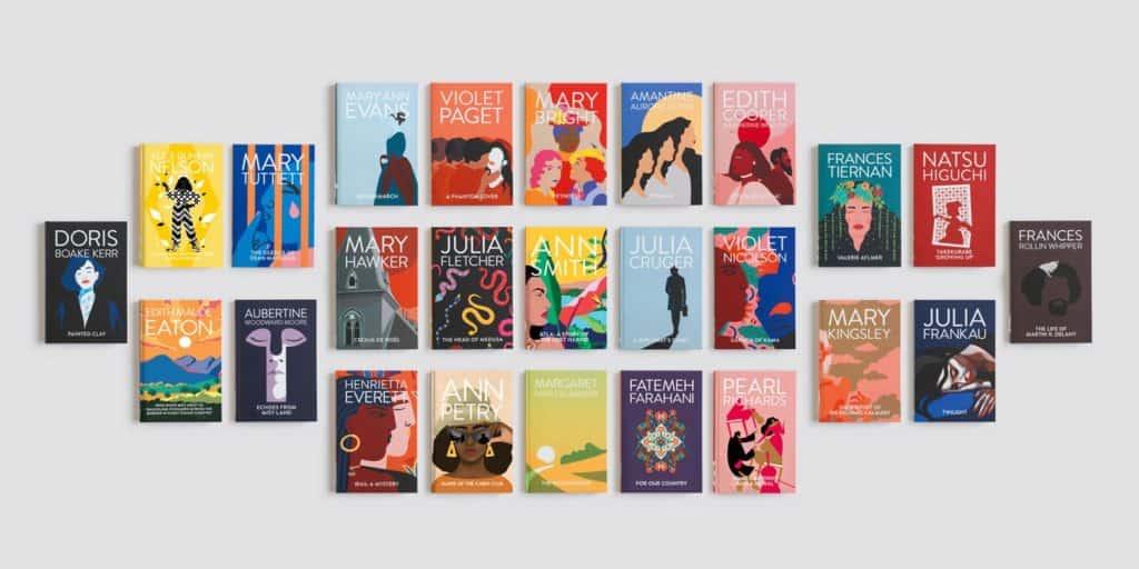colección de libros de mujeres escritoras