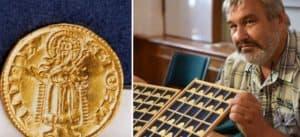 Encuentran cientos de monedas de oro en República Checa