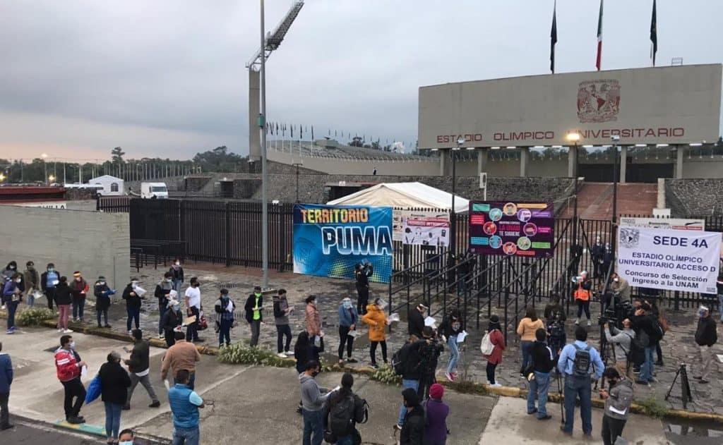 estadio olímpico para tomar examen