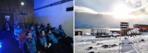 Reinauguró la sala de cine de la Antártida: es la única que hay y es argentina