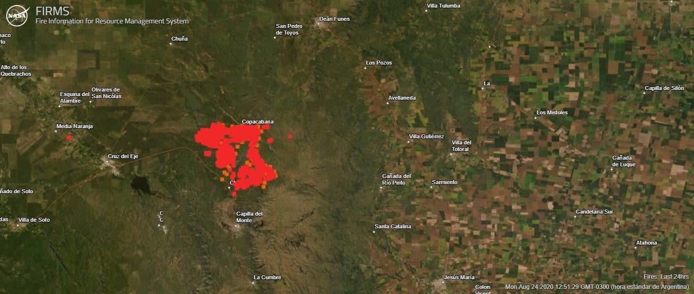 incendios en la provincia de córdoba