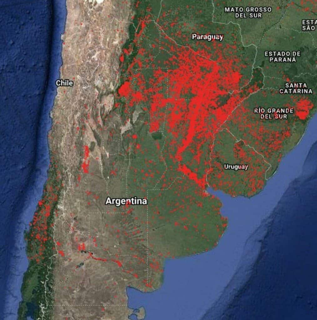 incendios forestales en América Latina