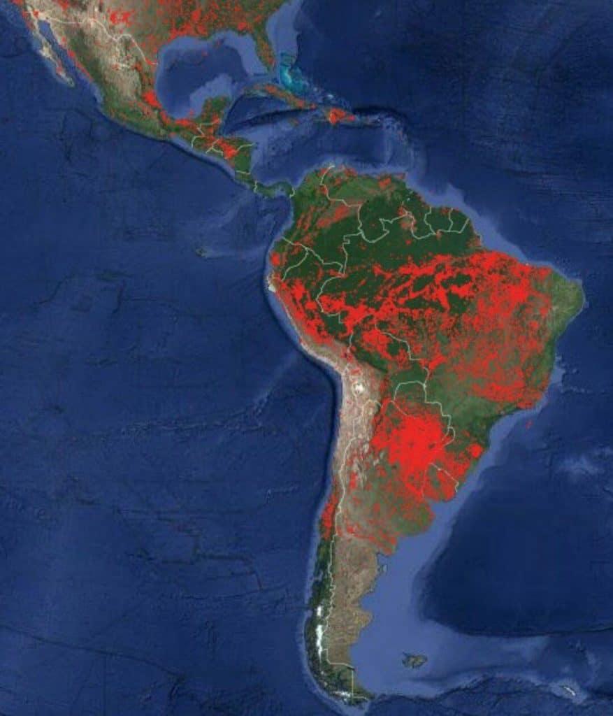 Nuevos registros satelitales de la NASA advierten alarmantes incendios forestales en América Latina