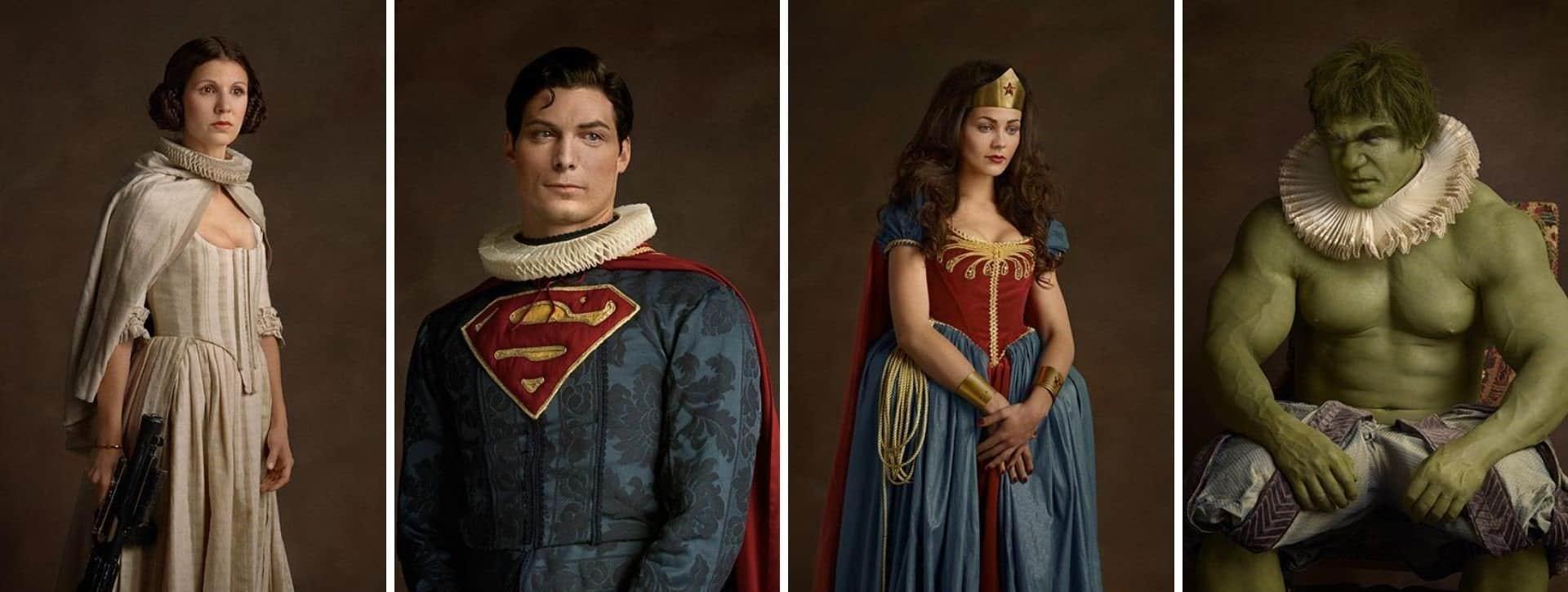 Un fotógrafo mostró cómo se verían superhéroes y personajes de la cultura pop como pinturas del Siglo XVI