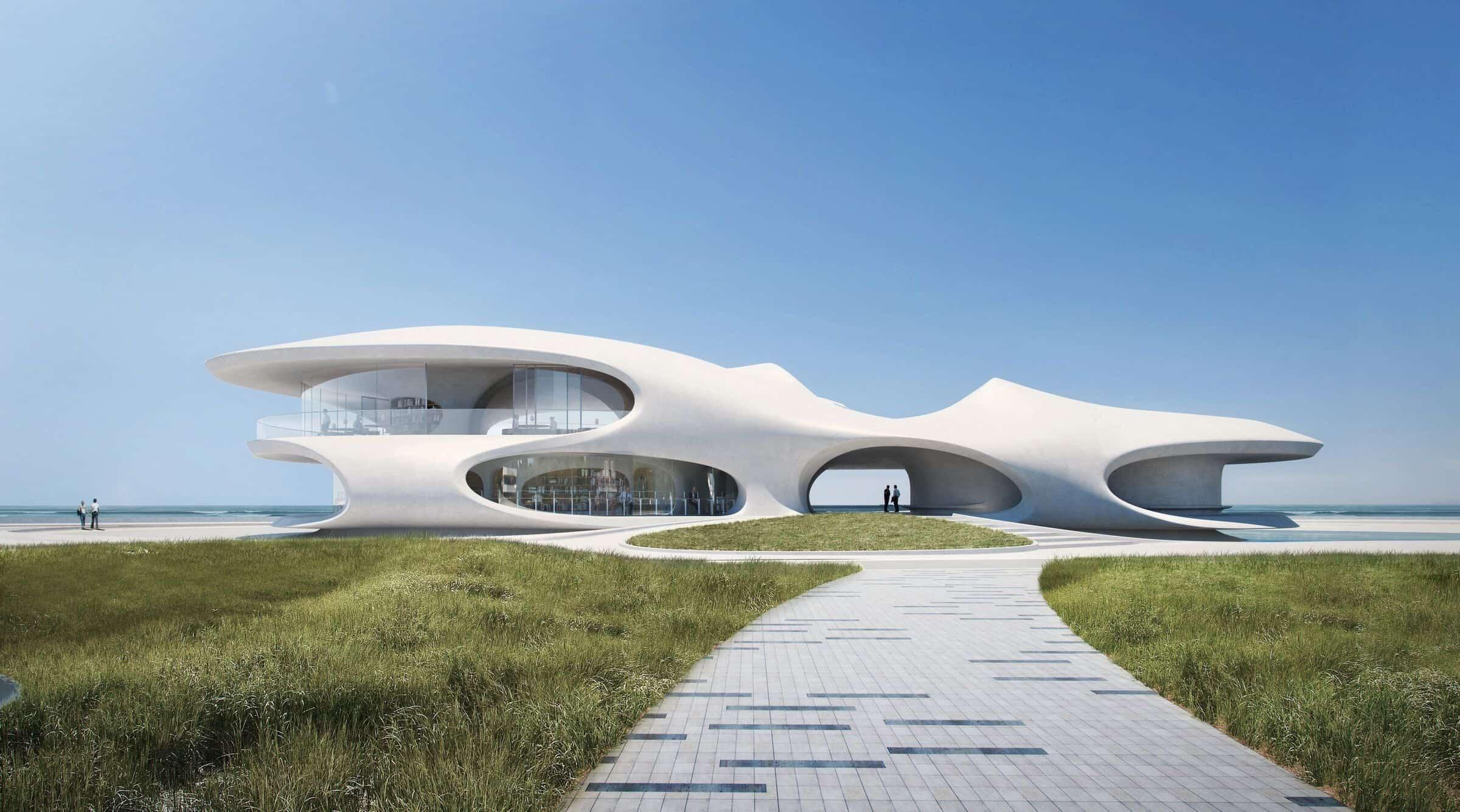 China: diseñan una biblioteca para leer y disfrutar frente al mar