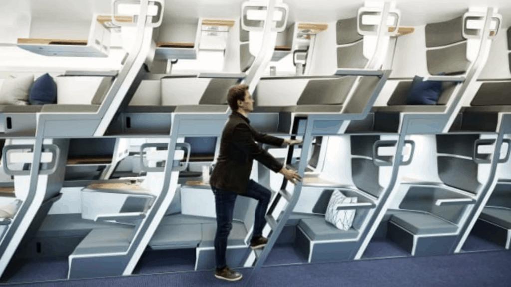 Diseñan aviones de dos pisos en un nuevo y seguro intento por configurar el espacio de las aeronaves.