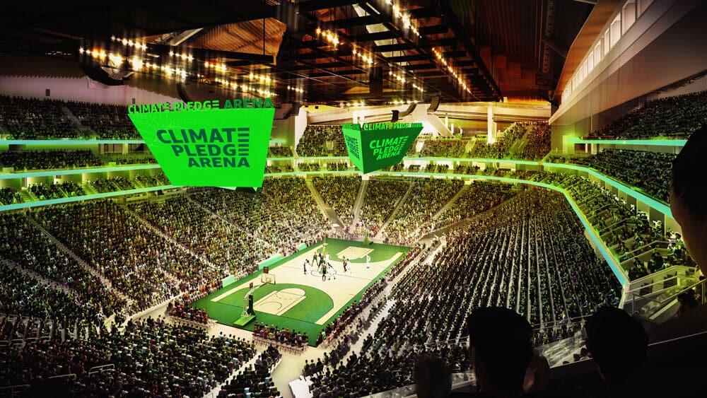 """Amazon construirá un estadio llamado """"Compromiso Climático"""" y funcionará con energía renovable"""
