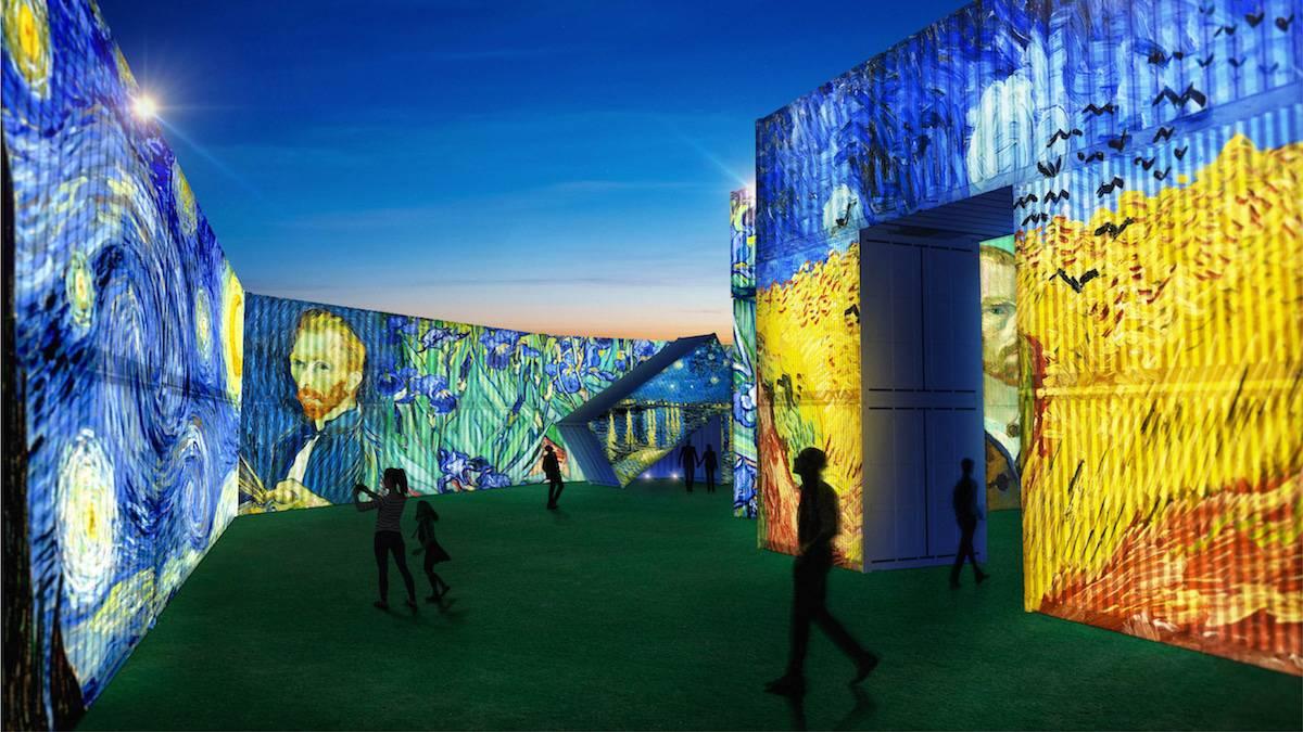 Nueva Zelanda proyectará obras de Van Gogh en una galería temporal al aire libre hecha con contenedores apilados 1