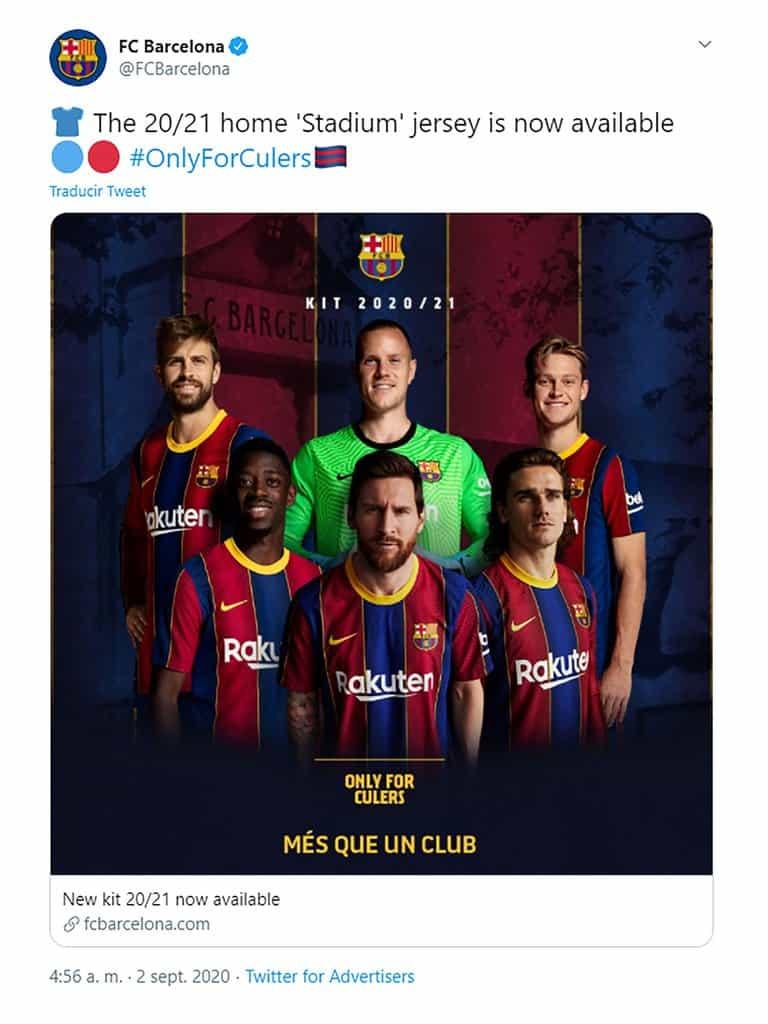 Viral: El Barcelona sacó a la venta su nueva camiseta con una imagen de Lionel Messi, a pesar de la polémica sobre su futuro