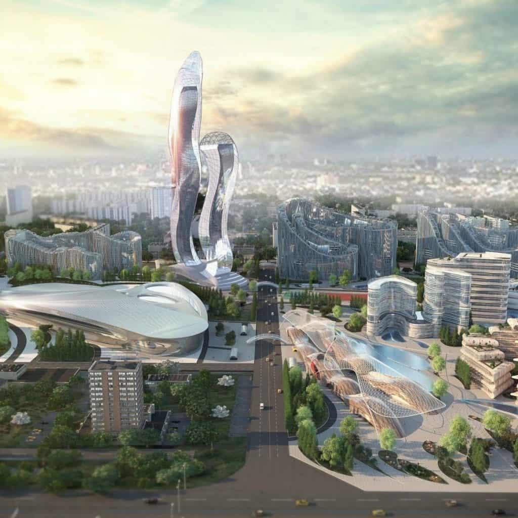 ciudad futurista en Senegal