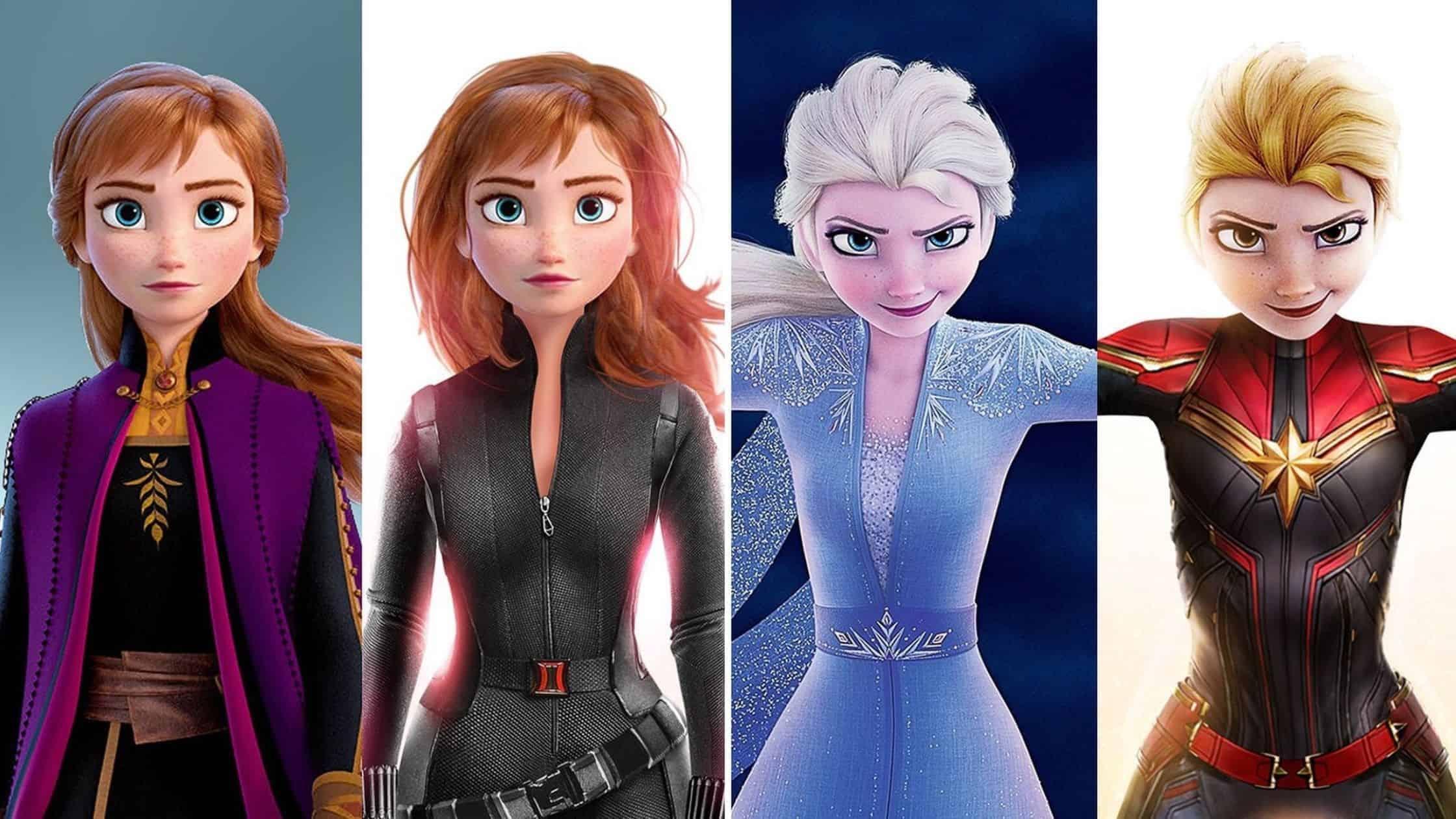 Un artista francés reimagina a diferentes personajes de Disney como superhéroes