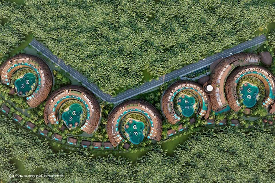 hospedarse en Tulum Este eco resort con forma de nido podria convertirse en una nueva atraccion para hospedarse en Tulum 8