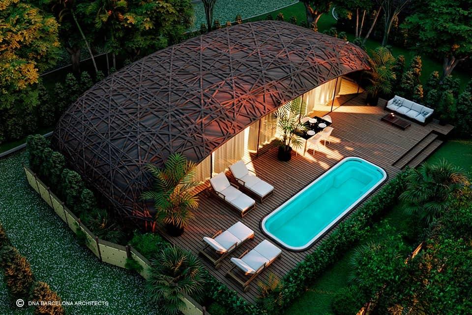 hospedarse en Tulum Este eco resort con forma de nido podria convertirse en una nueva atraccion para hospedarse en Tulum 6