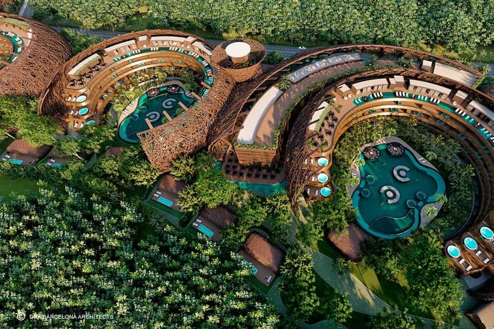 hospedarse en Tulum Este eco resort con forma de nido podria convertirse en una nueva atraccion para hospedarse en Tulum 4