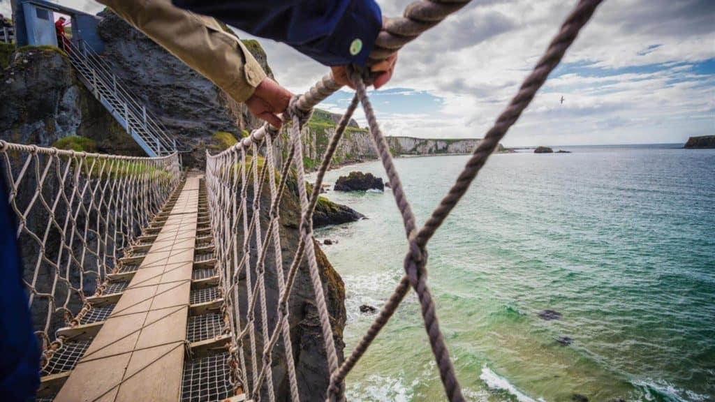 puente de cuerda de carrick-a-rede