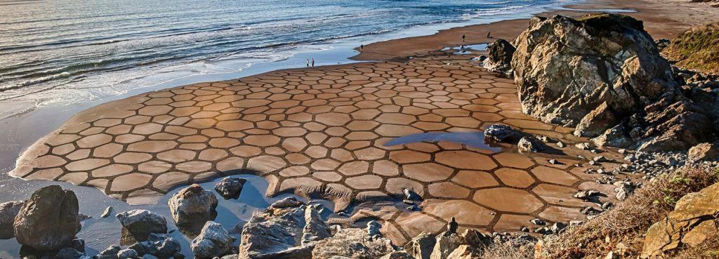 patrones sobre arena