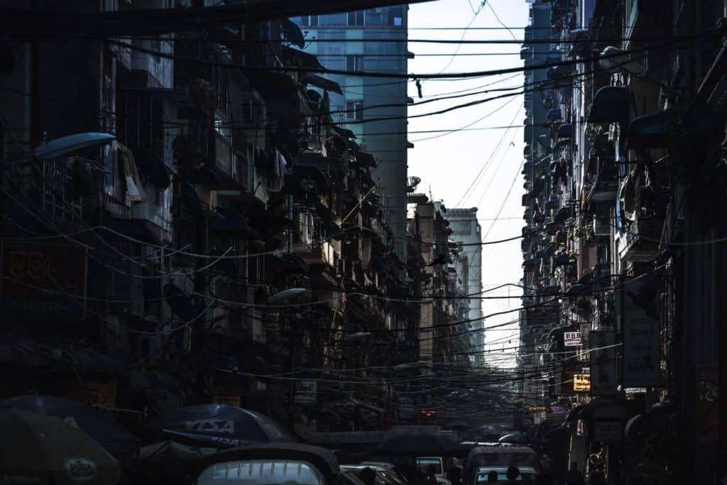 el caos de las ciudades en asia
