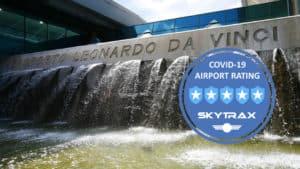 El aeropuerto Fiumicino de Roma, Italia, es el primero a nivel mundial en ser conocido por sus medidas en tiempos de COVID-19